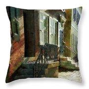 Street In New Castle Delaware Throw Pillow