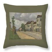Street In Pontoise Strabe In Pontoise Camille Pissarro Throw Pillow