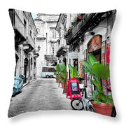 Street In Sicily Throw Pillow