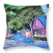 Street In St Augustine Throw Pillow