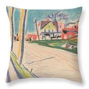 Street In The Bronx Throw Pillow