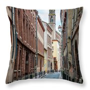 Street In Toulouse Throw Pillow