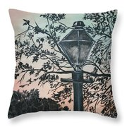 Street Lamp Historic Vintage Art Print Throw Pillow