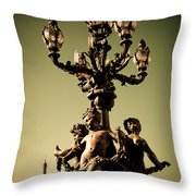 Street Lamp I Throw Pillow