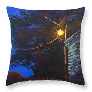 Street Light Nocturne Throw Pillow