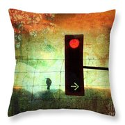 Street Lights And Cold Nights  Throw Pillow