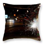 Street Lights Throw Pillow