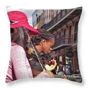Street Musicians Throw Pillow
