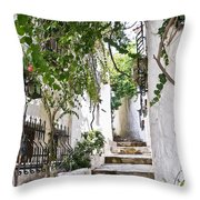 Street Of Marmaris Throw Pillow
