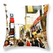 Street Of New York City Throw Pillow