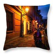 Street Of Prague Throw Pillow