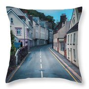 Street Of Summer Countryside Throw Pillow by Ariadna De Raadt