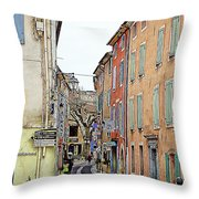 Street Orange, France Throw Pillow