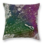 Street Painter Throw Pillow