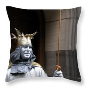 Street Performer Throw Pillow