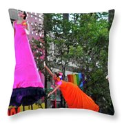 Street Performers 1 Throw Pillow