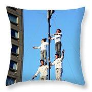 Street Performers 14 Throw Pillow
