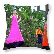Street Performers 4 Throw Pillow