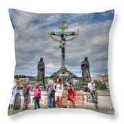 street Praha Chehia Throw Pillow