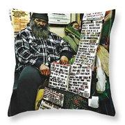 Street Preacher On The A Train Throw Pillow