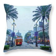 Street Scene, New Orleans Throw Pillow