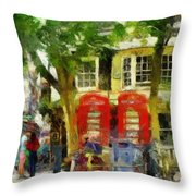 Street Scenic Throw Pillow