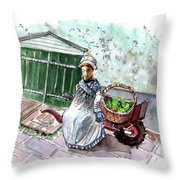 Street Seller In Helsingor Throw Pillow
