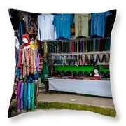 Street Shops At Ataco Throw Pillow
