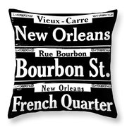 Street Sign Scenes Of New Orleans Throw Pillow