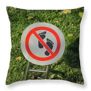 Street Sign Throw Pillow