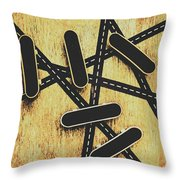 Street Skating Background Throw Pillow