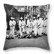 Street Sweepers, 1911 Throw Pillow