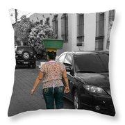 Street Vendor  Throw Pillow