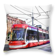 Streetcar On Spadina Avenue #17 Throw Pillow
