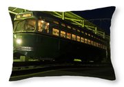 Streetcar Stop Throw Pillow