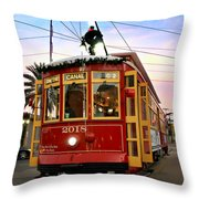 Streetcar Sunset Throw Pillow