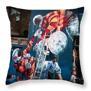 Streets And Art In Colour. Throw Pillow