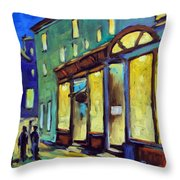 Streets At Night Throw Pillow