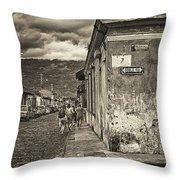 Streets Of Antigua - Guatemala Throw Pillow