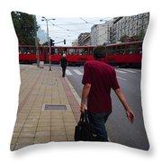 Streets Of Belgrade Throw Pillow