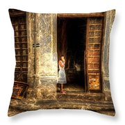 Streets Of Cuba Throw Pillow