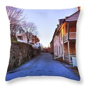 Streets Of Harpers Ferry Throw Pillow