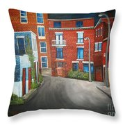 Streets Of Montreal  Joly Throw Pillow