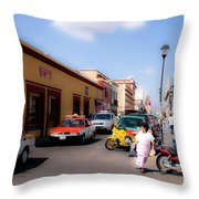 Streets Of Oaxaca Mexico 1 Throw Pillow