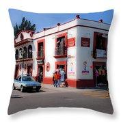 Streets Of Oaxaca Mexico 3 Throw Pillow