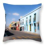 Streets Of Oaxaca Mexico 4 Throw Pillow