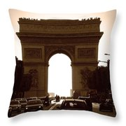 Streets Of Paris Throw Pillow
