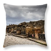 Streets Of Pompeii Throw Pillow