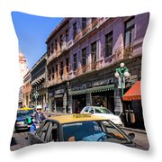 Streets Of Puebla 3 Throw Pillow