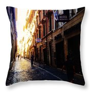 Streets Of Rome 2 Throw Pillow